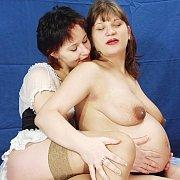 Hot Pregnant Lesbian Sex