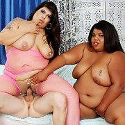 Horny BBWs Share A Dick with Bella Bangs, Peaches Love