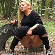 Pissing Blonde In The Woods with Jenna Lovely