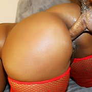 Chubby Black Slut Gets Her Pussy Filled with Brownie Deluxxx