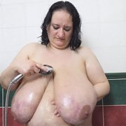 Slippery Fat Tits Shower with Sunniva Lind