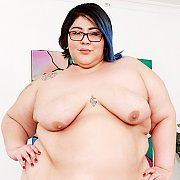 Horny BBW Displays Her Juicy Tits And Fat Pussy with Crystal Blue