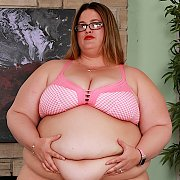 Fat N Horny BBW Takes Off Her Clothes with Erin Green