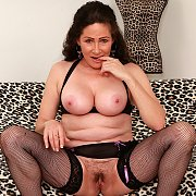 Sexy Mature Slut Shows Her Juicy Tits And Meaty Pussy with Alexa Silk