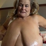 Oiled Up Giant Bouncing Boobs with Sarah