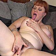 Hairy Hot Redhead with Velvetina Fox