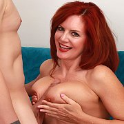 Redheaded Mature Slut Gets Her Pussy Drilled with Andi James