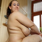 Bathroom BBW Saggy Tits with Ursula
