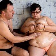Nina Lets Fan Play with Lactating Big Tits with Nina Doll