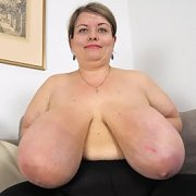 Loud Clapping Macromastia Breasts with Pauline