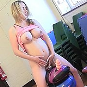 Pumping Her Breasts And Riding Her Sybian with Naughty Tinkerbell