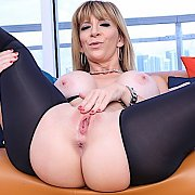 Black Chaps And Big Dildo with Sara Jay