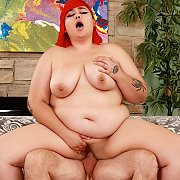 Redheaded Horny BBW Enjoys A Pussy Pounding with Luna Berry