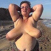 Bouncing Beach Boobs Exercises with Nina Doll