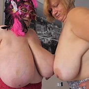 Giant Tits Lesbian Action with Margaret, Betsy