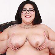 Fat N Sexy Asian BBW Shows Her Fat Pussy And Tits with Crystal Blue