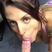 Busty Wife In Leggings And Giving A Blowjob with Lavender Rayne