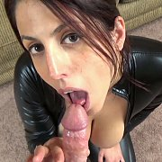 Slutty Wife Gets Laid In Her Vinyl Catsuit with Lavender Rayne