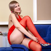 Pigtails In Red with Sienna K