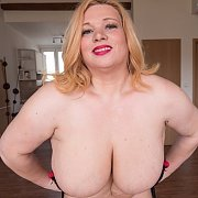 Blond BBW with Heavy Boobs with Marla