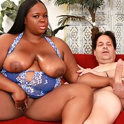 Ebony BBW Rides On A Long Stiff Dick: The Movie with Olivia Leigh