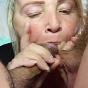 Double Blowjob with Granny Valerie