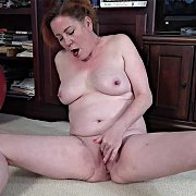Mature Fingering with Caitlin Moore
