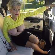 Big Milf Tits On Show In The Car with Lady Sonia