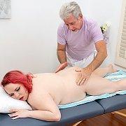 Redheaded Chubby BBW Enjoys A Pussy Massage with Quinn Rain