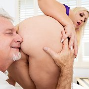 Blonde Plumper Milf Enjoys A Pussy Pounding with Lila Lovely