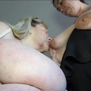 Sucking Aunty's Huge Tits with Mrs Huge Aunty, Sharon