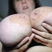 Aunty Plays With Her Huge Tits with Mrs Huge Aunty