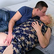 This Hairy Mature BBW Loves To Ride A Hard Young Cock with Lana C