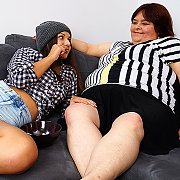 Big Mature BBW Lesbian Having Fun With A Hot Teeny Babe with Gabi K, Anina Silk