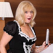 Mature British Maid Finds A Toy Cleaning And Gets Naughty with Emily Jane