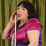 Chubby Housewife Sticks A Dildo Deep Up Her Pussy with Carina