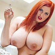 Huge Natural Tits Babe Smoking with Alexsis Faye