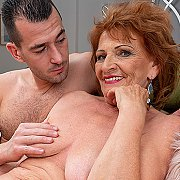 Horny Grandma Sucks Her Toyboy's Cock And Gets Her Pussy Thumped with Katalina