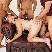 Cuckold Groupsex Party With A Married Lady While Her Husbands Watches with Alice Sharp