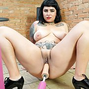 BBW Serves A Sex Machine with Alana Kralissa
