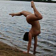 Curvy Girlfriend Nude In The Beach With Her Boyfriend