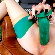 Green Goddess with Red XXX