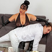 Dominant Stepmom Knows How To Handle Naughty Toyboys with Ida