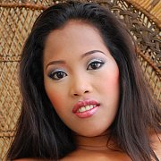 Asian Girl In Black Stocking Spreading with Myla