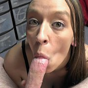 Brunette Slut Going Down On A Stiff Cock with Nicci Taylor