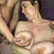 Plumbers Get Their Pipes Cleaned with Mrs Huge Aunty