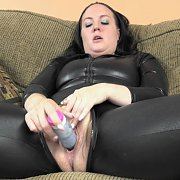 Raunchy Milf Playing In A Vinyl Catsuit with Selena Sky