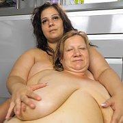 BBW Lesbian Lovers with Betsy, Rita