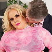 Sexy Blonde BBW Enjoys Pussy Pounding with Megan MILF