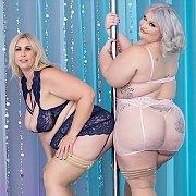 Sexy Plumpers Enjoy Lesbian Sex with Tiffany Star BBW, Lila Lovely